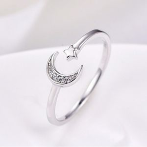Jewelry - Crescent Moon and Star Ring